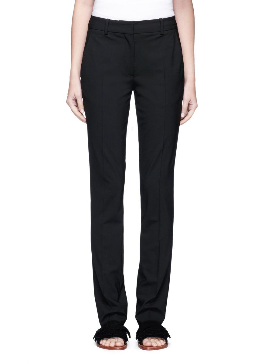 Slim fit virgin wool suiting pants by Victoria Beckham