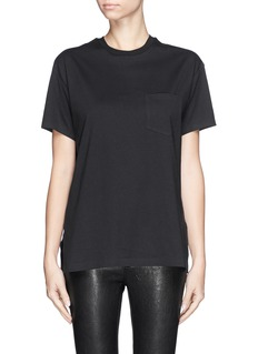 T BY ALEXANDER WANG Chest pocket split side T-shirt
