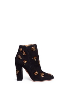 Aquazzura 'Fauna' insect embellished suede boots