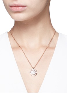 W.Britt 'Mini Decagon' rose quartz pendant necklace