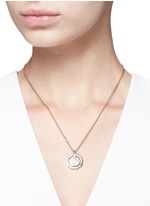 'Mini Decagon' rose quartz pendant necklace