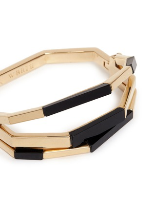 Detail View - Click To Enlarge - W.Britt - 'Flip' bar convertible 18k gold onyx bangle