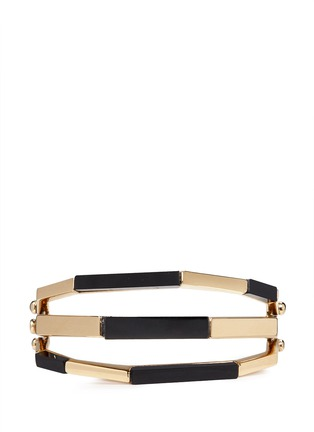 Main View - Click To Enlarge - W.Britt - 'Flip' bar convertible 18k gold onyx bangle