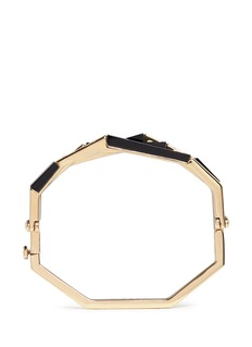 W.Britt 'Flip' bar convertible 18k gold onyx bangle