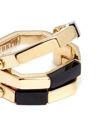 W.Britt-'Flip' bar convertible 18k gold onyx ring