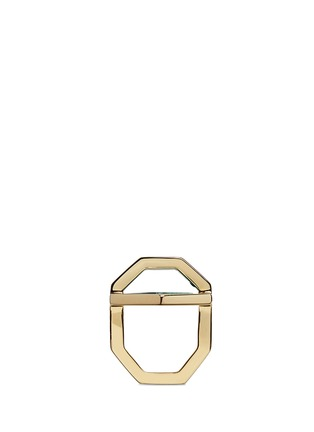 Figure View - Click To Enlarge - W.Britt - 'Hexagon' inset malachite ring