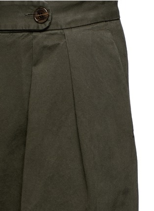 Detail View - Click To Enlarge - Dries Van Noten - 'Pamplona' pleat brushed twill wide leg pants