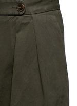'Pamplona' pleat brushed twill wide leg pants