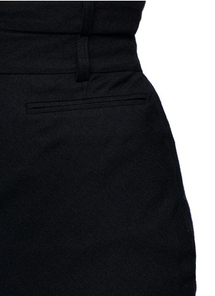 Detail View - Click To Enlarge - Haider Ackermann - Front vent felted virgin wool pencil skirt