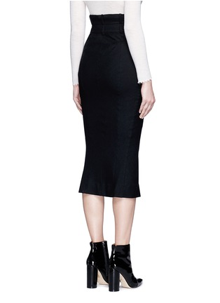Back View - Click To Enlarge - Haider Ackermann - Front vent felted virgin wool pencil skirt