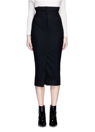 Main View - Click To Enlarge - Haider Ackermann - Front vent felted virgin wool pencil skirt