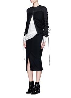 Haider AckermannFront vent felted virgin wool pencil skirt