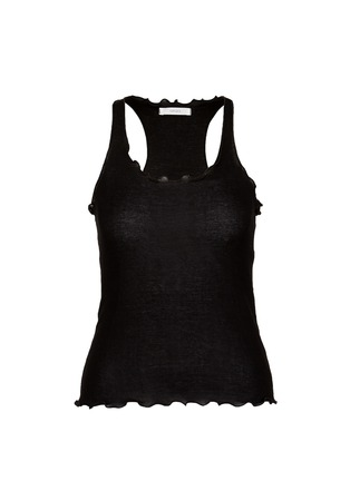 Main View - Click To Enlarge - Araks - Ruffle cotton rib jersey tank top