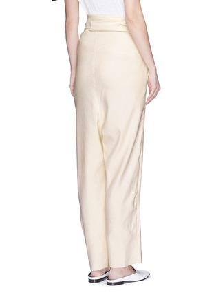 Back View - Click To Enlarge - ERIKA CAVALLINI - 'Asami' cotton-linen wrap pants