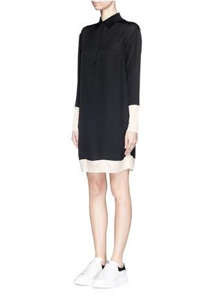 Front View - Click To Enlarge - rag & bone - 'Anita' two tone shirt dress