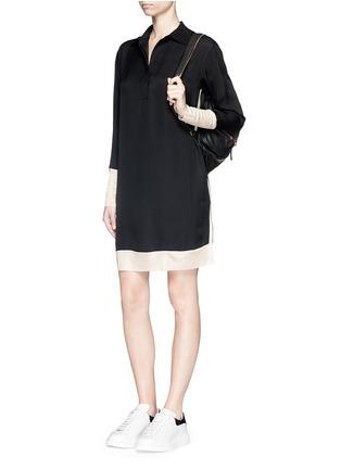 Figure View - Click To Enlarge - rag & bone - 'Anita' two tone shirt dress