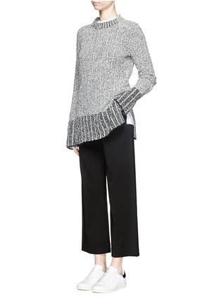 Figure View - Click To Enlarge - rag & bone - 'Corey' wide leg cropped pants