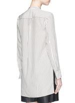 'Virginia' stripe silk satin shirt