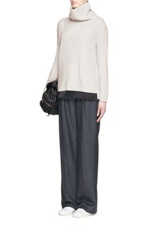 RAG & BONE'Blithe' geometric Merino wool rib knit turtleneck sweater