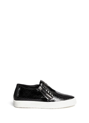 Giuseppe Zanotti Design - 'May London' scale effect leather skate slip-ons