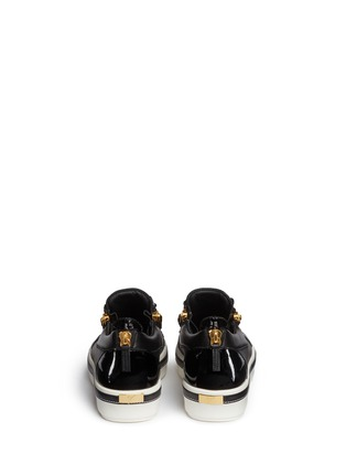 Back View - Click To Enlarge - Giuseppe Zanotti Design - 'Ace' low top leather sneakers
