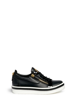 Main View - Click To Enlarge - Giuseppe Zanotti Design - 'Ace' low top leather sneakers