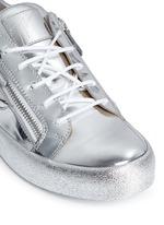 'May London' metallic leather slip-on sneakers
