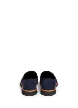 背面 - 点击放大 - GIUSEPPE ZANOTTI DESIGN - 金属片装饰麂皮乐福鞋