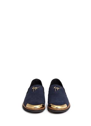 正面 -点击放大 - GIUSEPPE ZANOTTI DESIGN - 金属片装饰麂皮乐福鞋