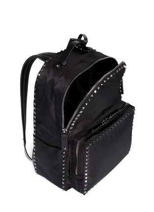 Detail View - Click To Enlarge - Valentino - 'Rockstud' nylon backpack
