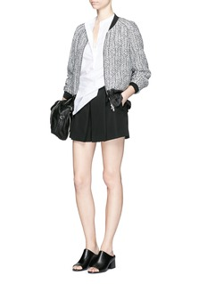 3.1 PHILLIP LIM Cable knit effect cloqué jacquard bomber jacket