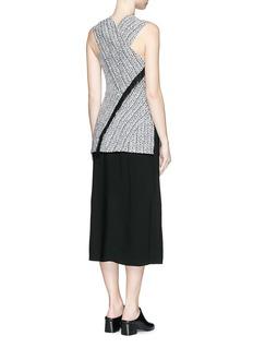3.1 PHILLIP LIMCable knit effect cloqué jacquard combo dress