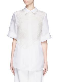 3.1 PHILLIP LIMGathered chest panel silk organza blouse