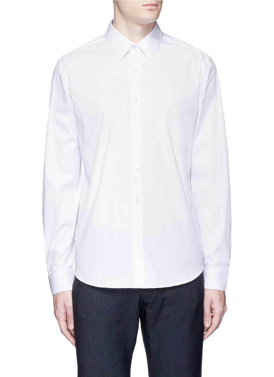 Sylvain stretch poplin shirt by Theory