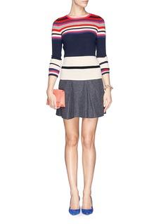 DIANE VON FURSTENBERG'Jolanta' stripe cashmere sweater