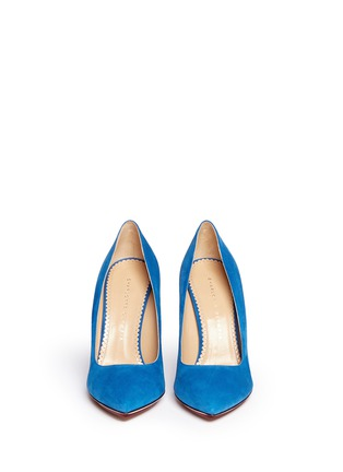 Figure View - Click To Enlarge - Charlotte Olympia - 'Monroe' suede platform pumps