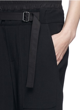 Detail View - Click To Enlarge - Helmut Lang - Slouch cropped pants