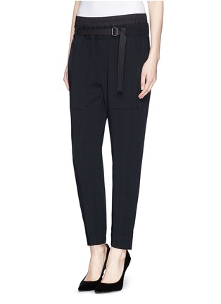 Front View - Click To Enlarge - Helmut Lang - Slouch cropped pants