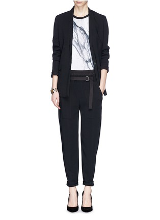 Figure View - Click To Enlarge - Helmut Lang - Slouch cropped pants