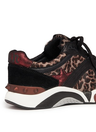 Detail View - Click To Enlarge - Ash - 'Hendrix' leopard print leather suede sneakers