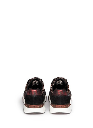 Back View - Click To Enlarge - Ash - 'Hendrix' leopard print leather suede sneakers