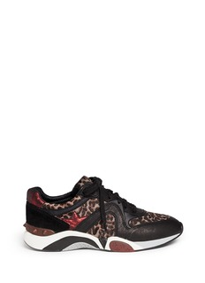 ASH 'Hendrix' leopard print leather suede sneakers