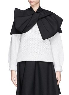 MARC BY MARC JACOBSTwist front wool blend twill cape