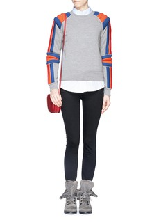 MARC BY MARC JACOBS 'Grady' padded stripe sweater