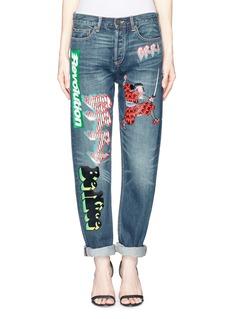 MARC BY MARC JACOBS'Annie' appliqué boyfriend jeans