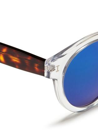 Detail View - Click To Enlarge - ILLESTEVA - 'Leonard' tortoiseshell temple acetate sunglasses