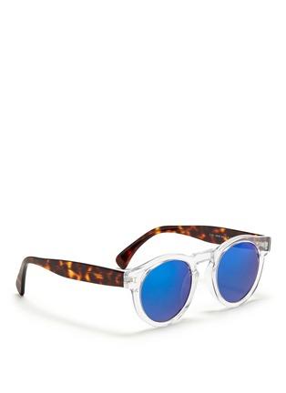 Figure View - Click To Enlarge - ILLESTEVA - 'Leonard' tortoiseshell temple acetate sunglasses