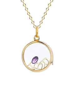 Loquet London Birthstone charm - February 'Heart of Hearts' Amethyst