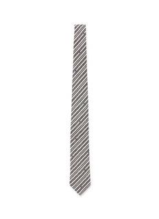 HARDY AMIESDiagonal stripe cotton tie