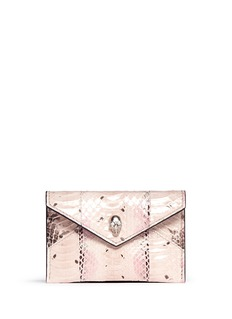 ALEXANDER MCQUEENSkull envelope leather card holder
